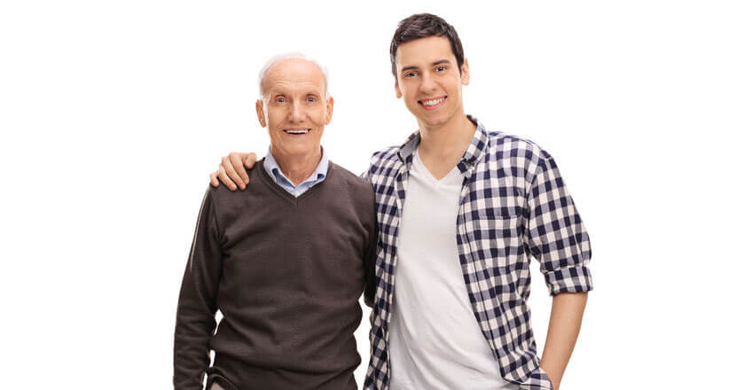 Older Man and Younger Man